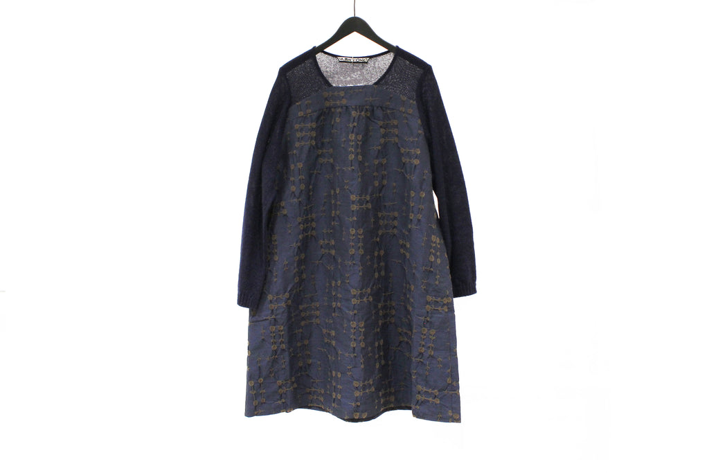 M&Kyoko Blue Embroidered Dress
