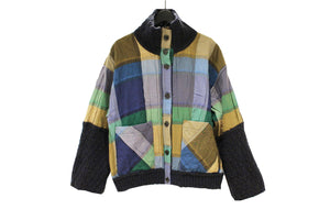 M&Kyoko Black Reversible Check Jacket