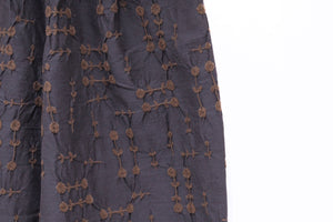 M&Kyoko Blue Embroidered Trousers