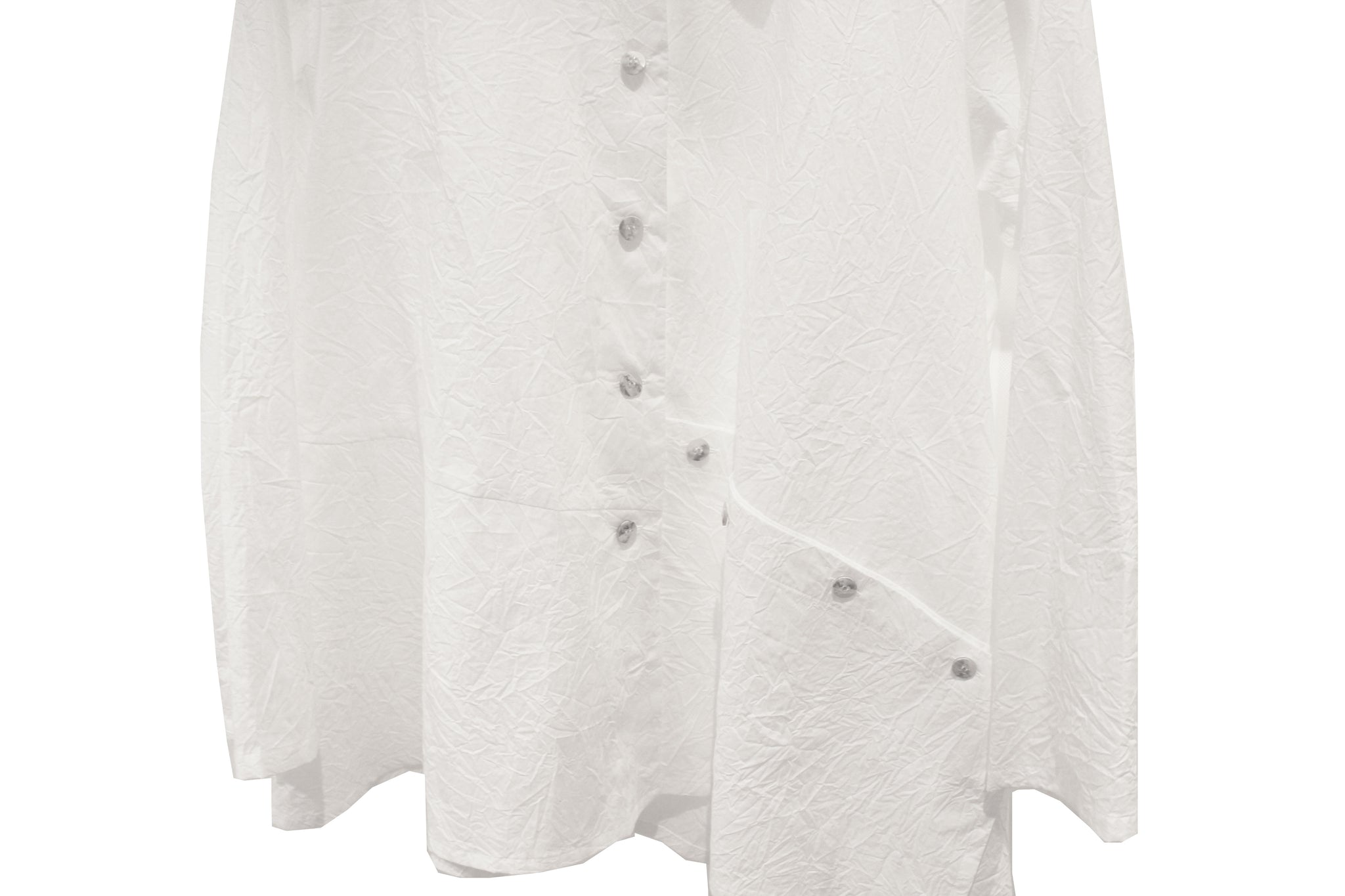 JI-U White Crinkled Shirt