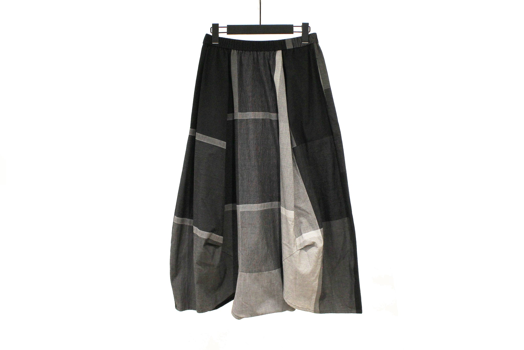 JI-U Black & Brown Striped Trousers