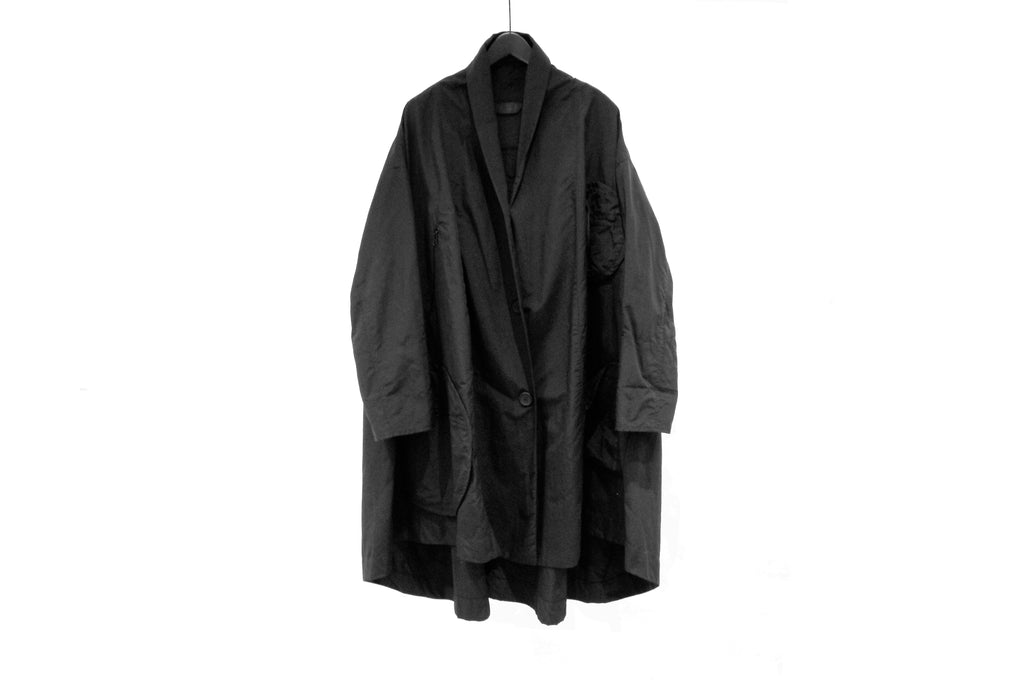 Moyuru Black Lightweight Coat
