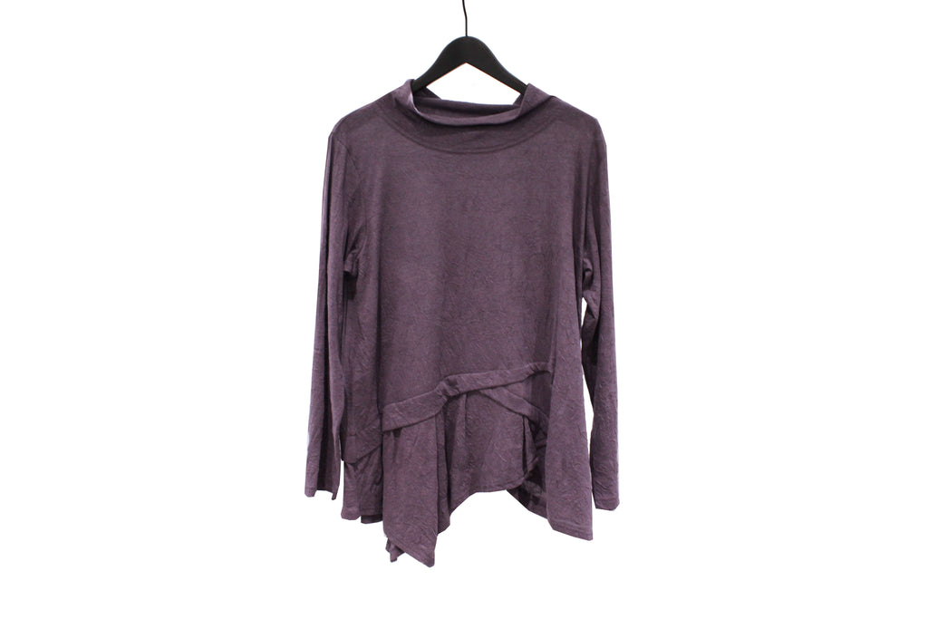 JI-U Purple Asymmetric Crinkled Top