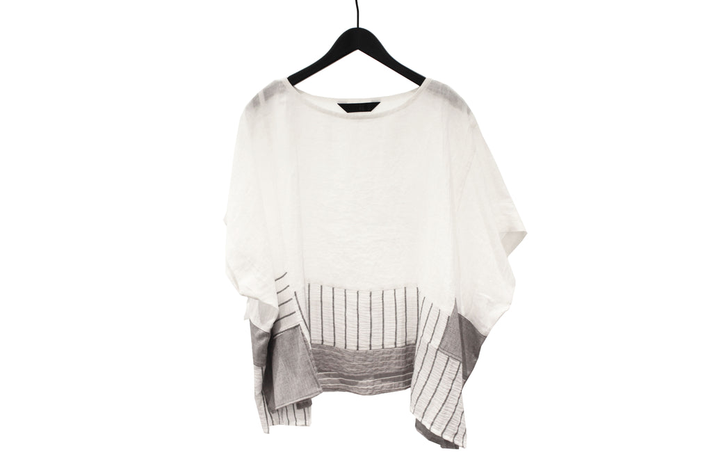 Moyuru White Patchwork Top
