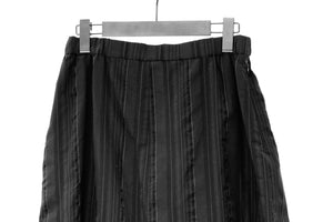 Mefu Black Striped Cocoon Trousers