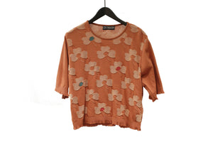 M&Kyoko Orange Floral Top
