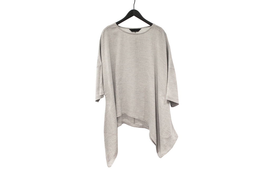Moyuru Light Grey Asymmetric Top