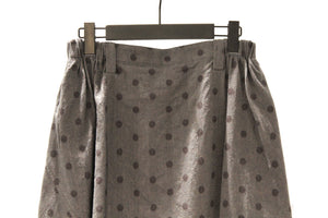 Moyuru Denim Like Polka Dot Harem Trousers