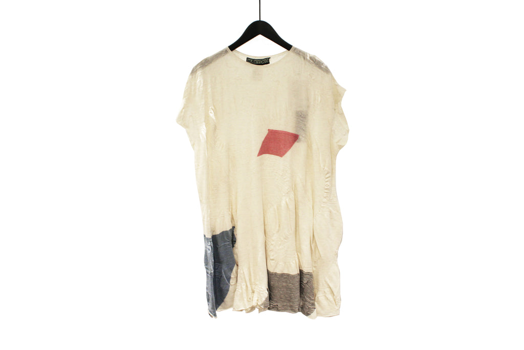 M&Kyoko Beige Long Pleated Knit Top