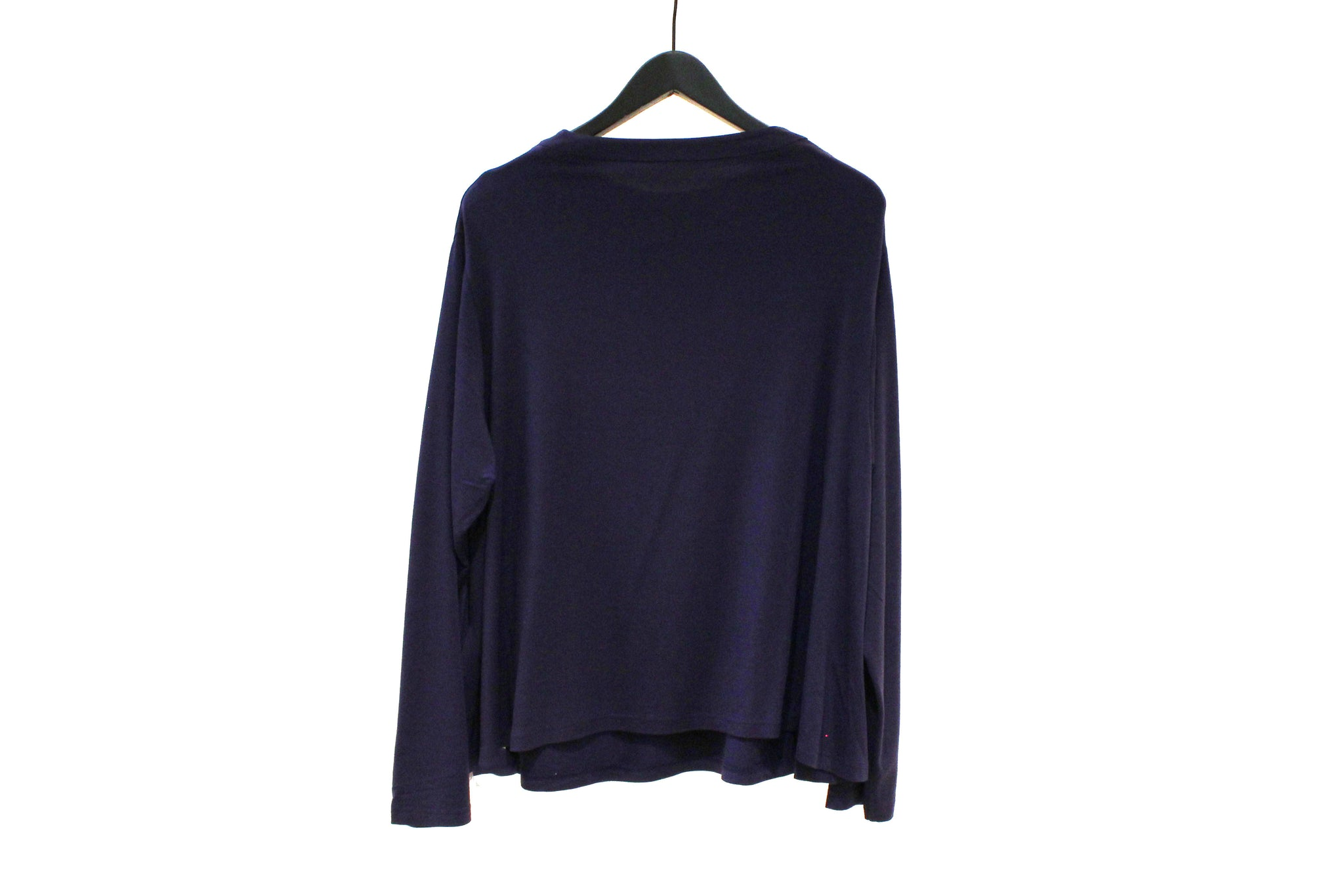JI-U Purple Multicolour Appliqué Long Sleeve T-shirt