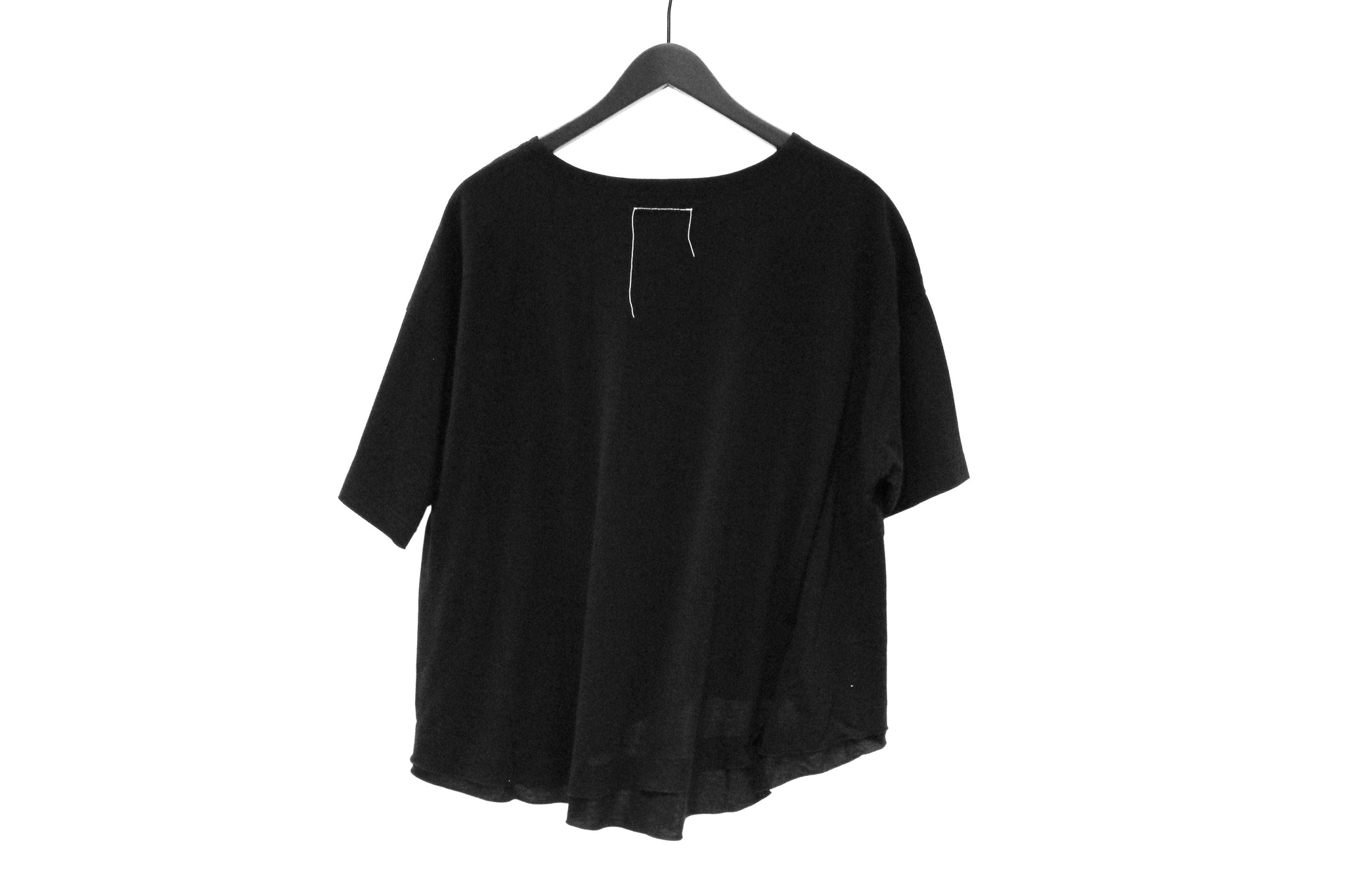 Fu_ Black Asymmetric T-Shirt