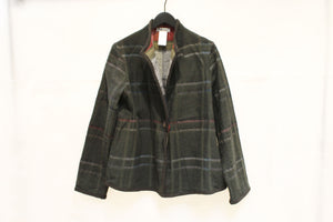 Fuga Fuga Brown & Blue Check Reversible Jacket