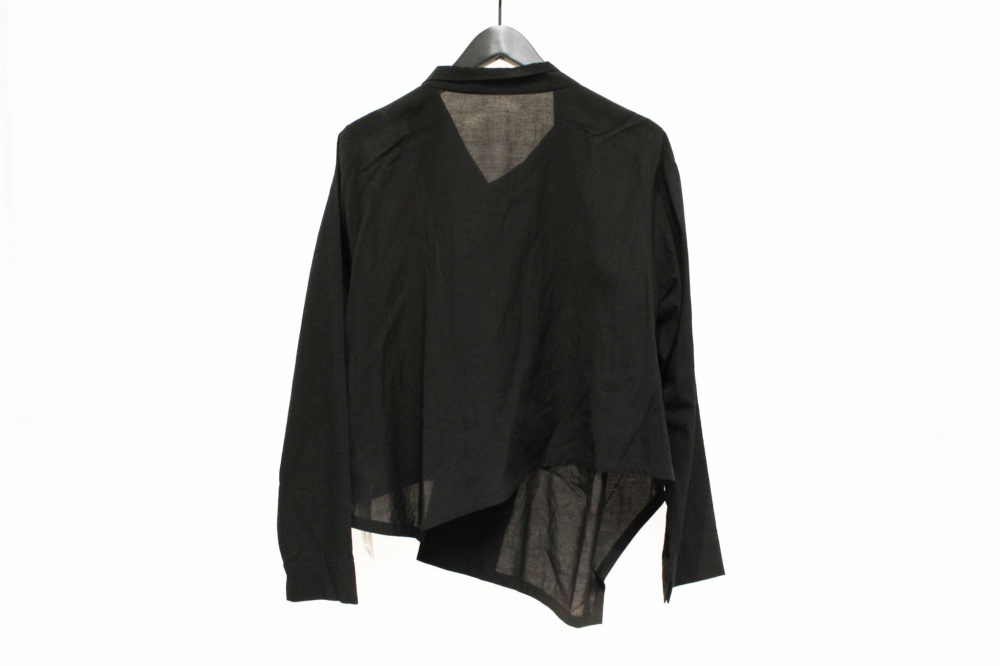 Mefu Black Asymmetric Jacket