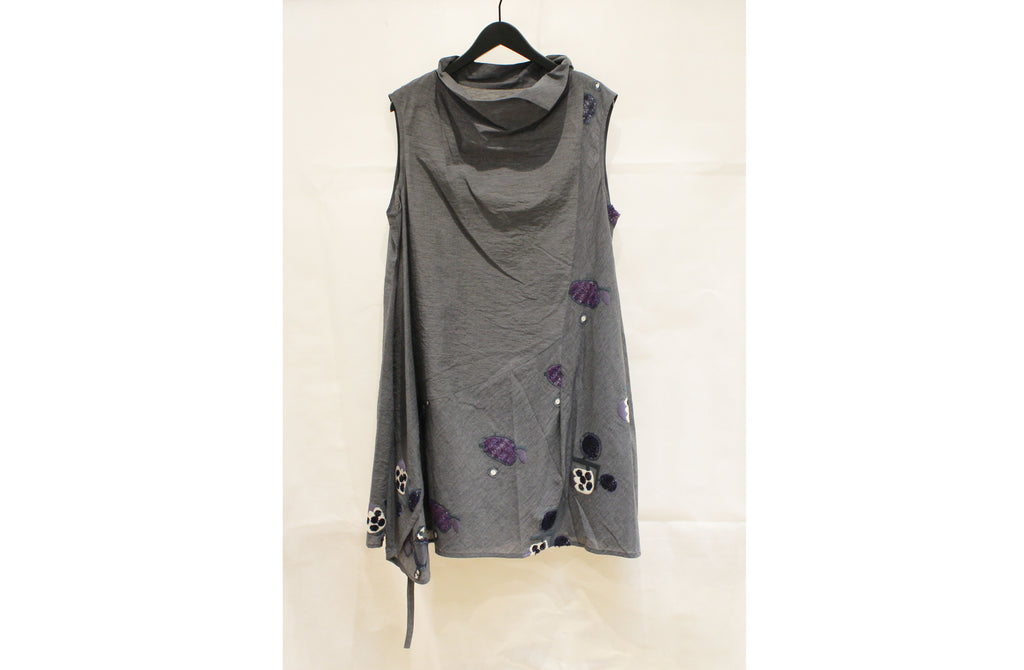 JI-U Grey Sleeveless Tunic