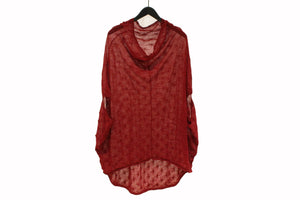 Moyuru Red Sleeveless Loose Knit Top