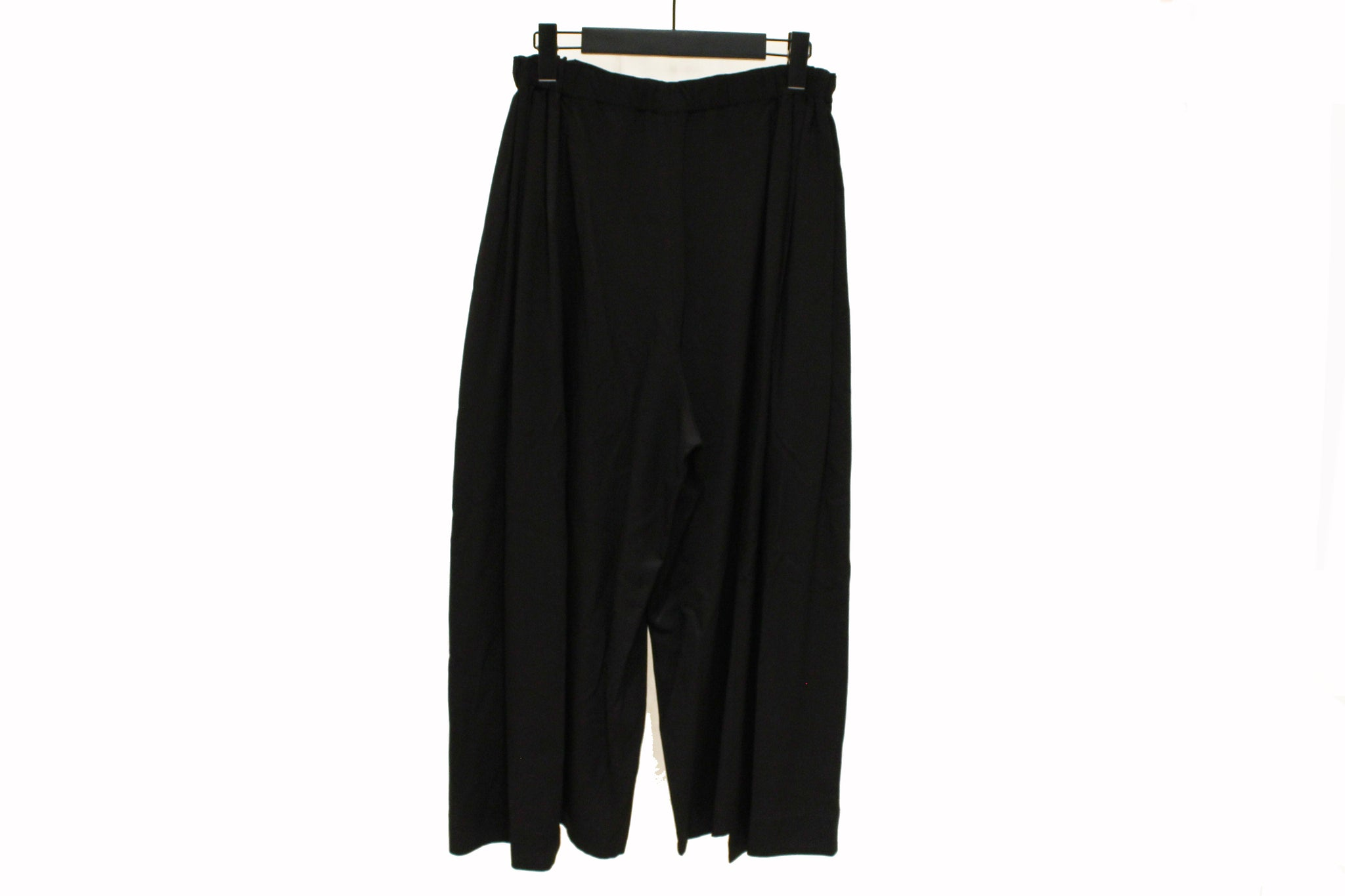 Mefu Black Wide Leg Drapey Trousers