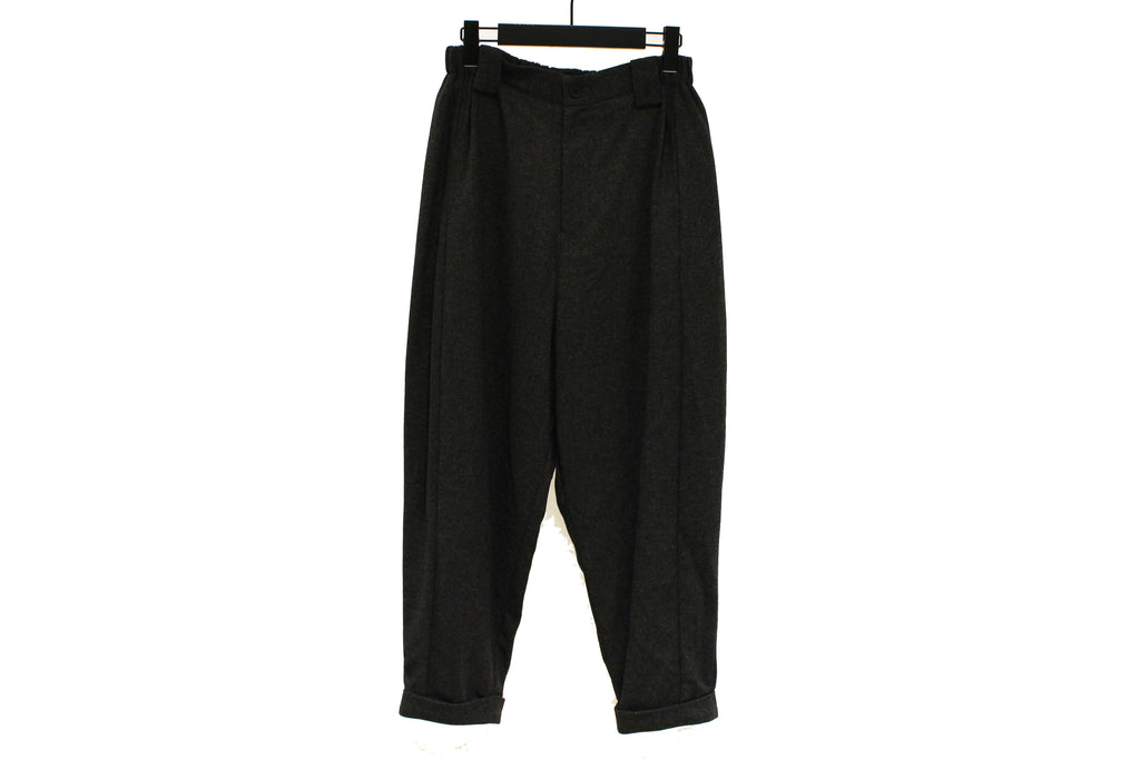 Moyuru Dark Grey Wooly Cigarette Trousers