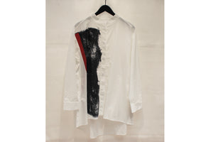 Moyuru White Abstract Print Shirt