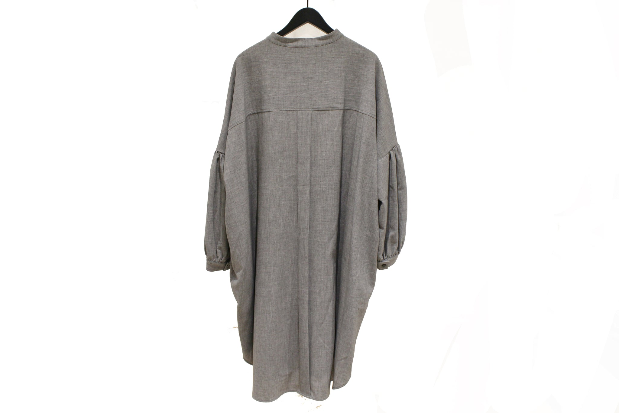 Moyuru Light Grey Bell Sleeve Shirt Dress