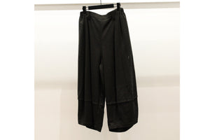 Moyuru Black Trousers with Layering Illusion