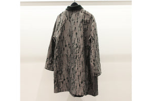 M&Kyoko Grey & Green Embroidered Coat