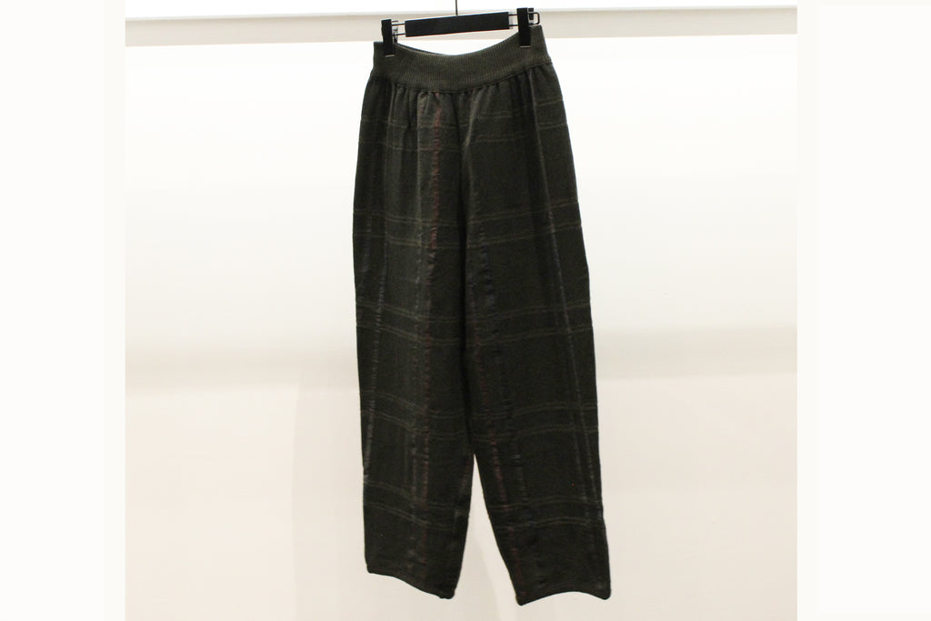 M&Kyoko Dark Brown Check Reversible Trousers