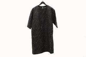 M&Kyoko Black & Grey Embroidered Tunic