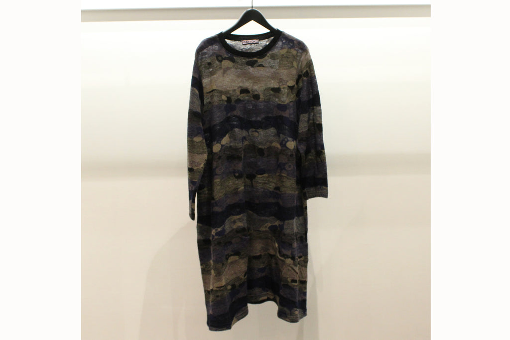 M&Kyoko Grey & Purple Knitted Tunic