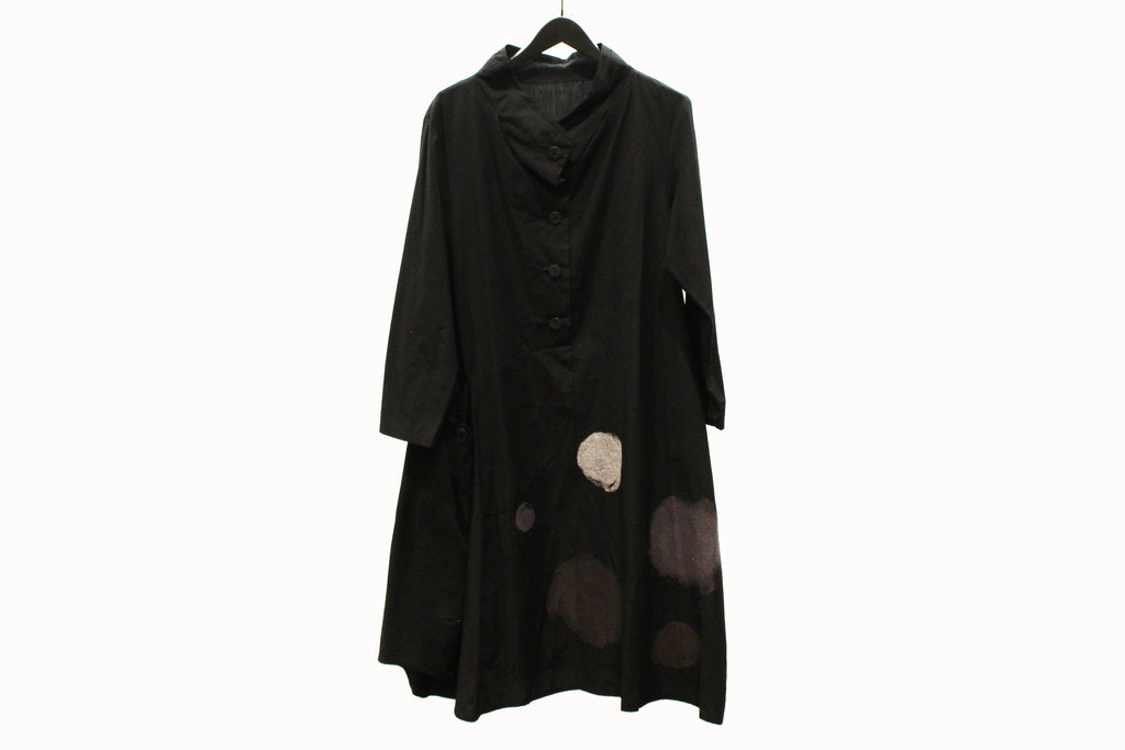 JI-U Black Tunic with Dots