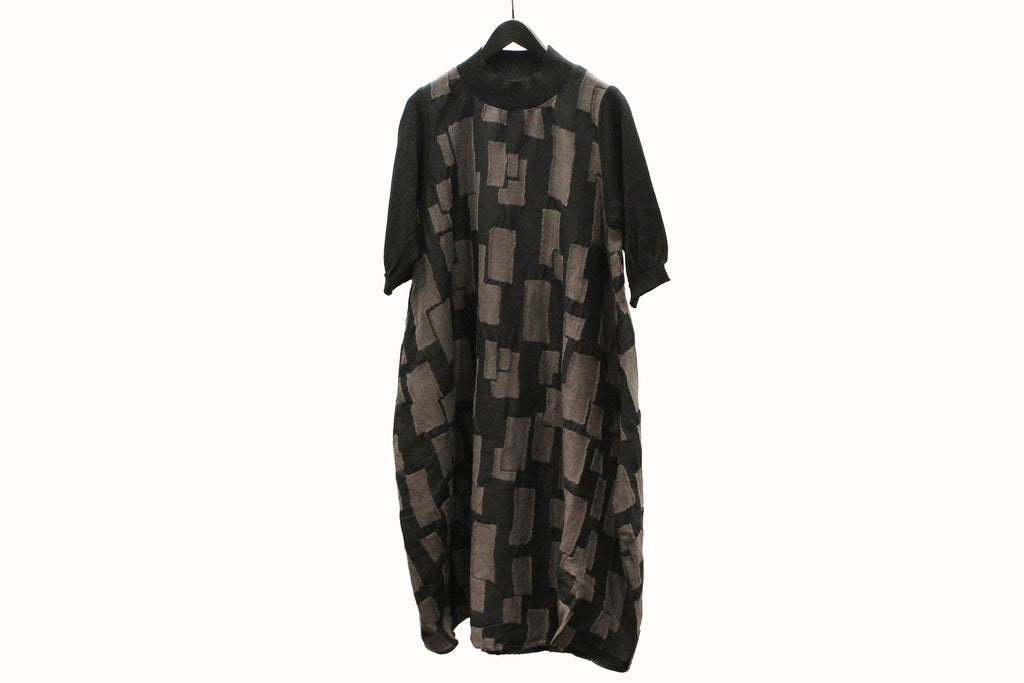 Fuga Fuga Black & Grey Mock Neck Tunic