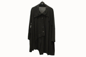JI-U Black Wide Collar Tunic