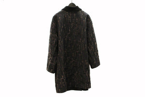 M&Kyoko Black & Grey Embroidered Coat
