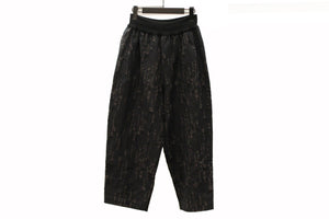 M&Kyoko Black & Grey Embroidered Trousers
