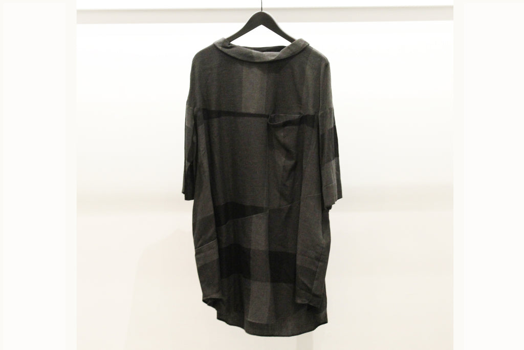 Mefu Dark Grey Check Tunic