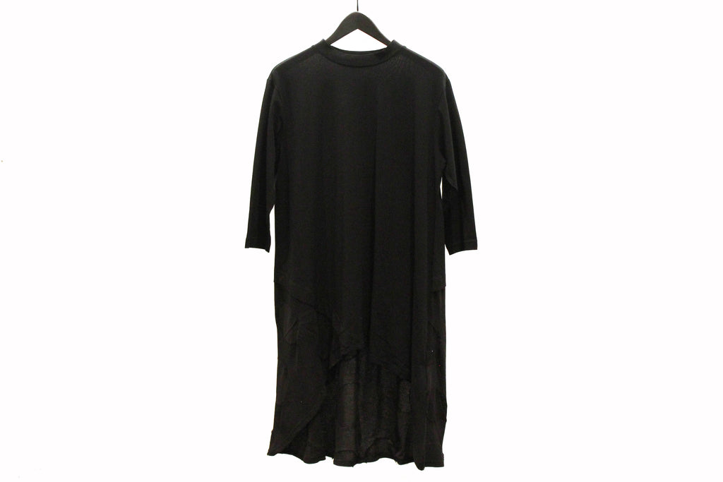 Mefu Black Asymmetric Tunic