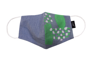 JI-U Blue & Green Patterns Reusable Face Mask