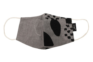 JI-U Grey & Black Patterns Reusable Face Mask