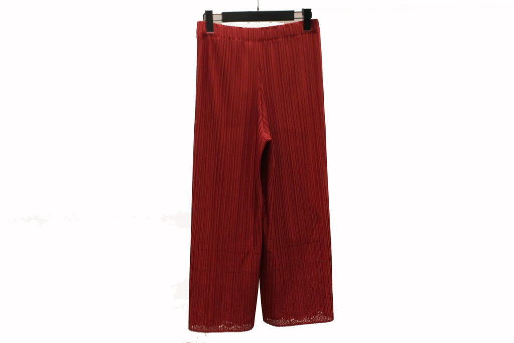 M&Kyoko Red Pleated Trousers