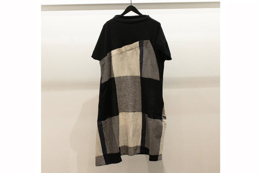 Mefu Black & White Block Check Tunic