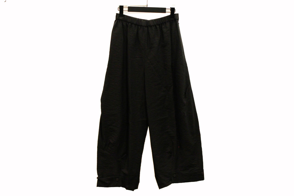 JI-U Black Wide Trousers