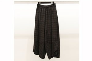 JI-U Black Check Trousers