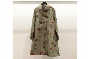 M&Kyoko Beige Embroidered Trench Coat