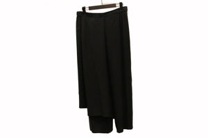 JI-U Black Layered Trousers