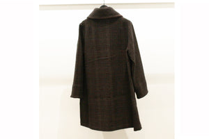 M&Kyoko Brown Textured Midi Coat