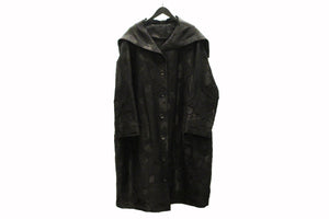 JI-U Black Sailor Collar Coat