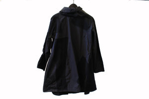JI-U Black Mixed Texture Coat