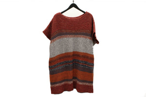 Moyuru Red Knitted Striped Tunic