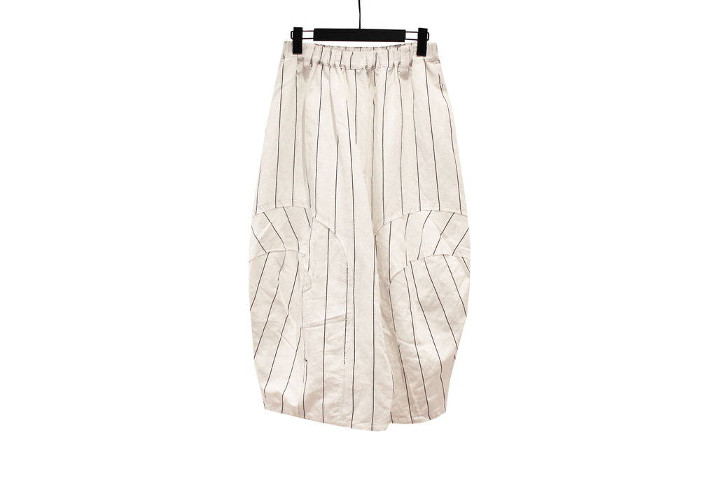 Moyuru White Striped Trousers