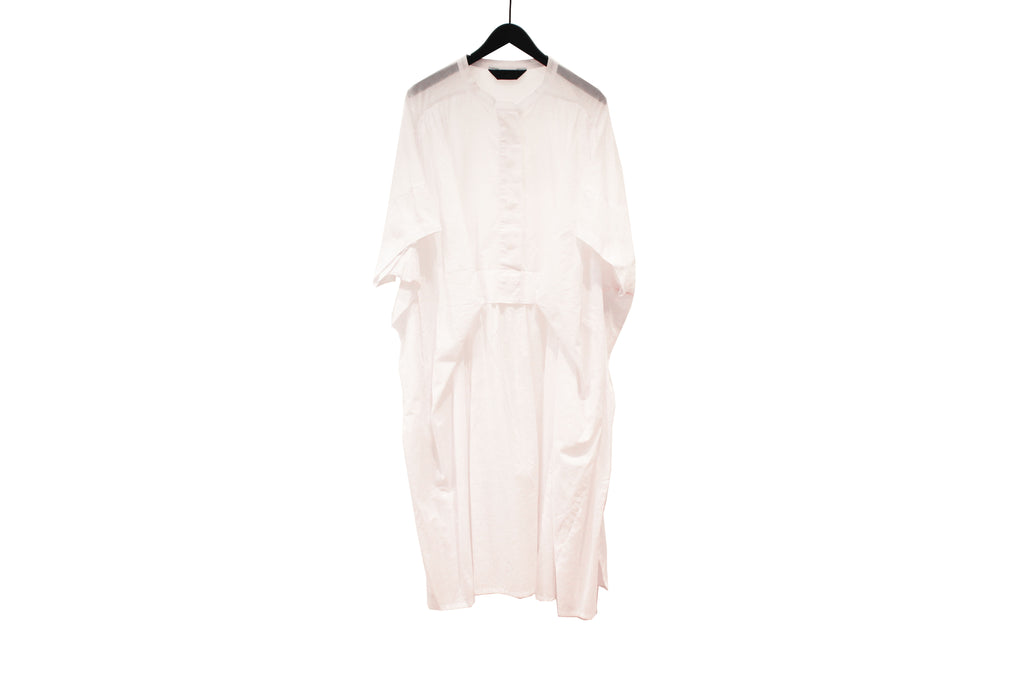 Moyuru White Gathered Dress
