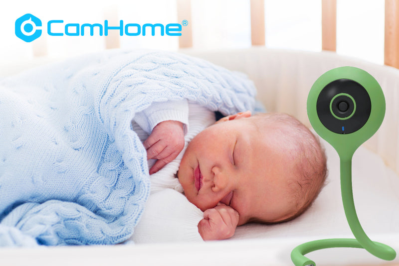 Comet C Wi-Fi HD 720p Video Baby Monitor With Lullaby, Two-way Talk, Thermometer and Humidity Readout - CamHome